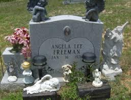 angela freeman headstone