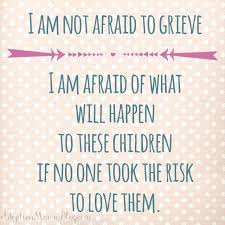 not afraid to grieve
