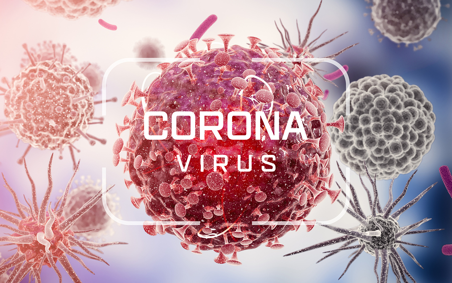 Corona Virus. Virus Cells Or Bacteria Molecule. Flu, View Of A V